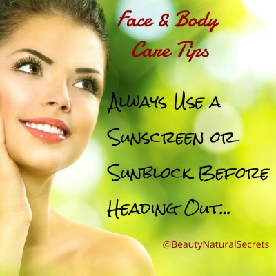 Sunscreen Tip
